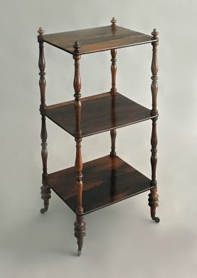 Rosewood Three-Tiered Whatnot or Etagere