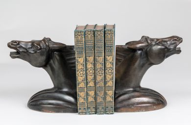 Pair Vintage Horse Head Bookends