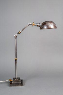 Vintage English Steel Work Desk Lamp