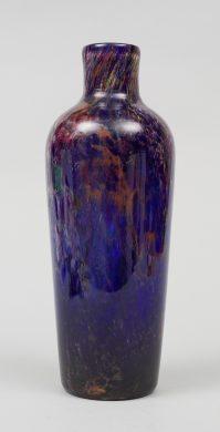 Webb & Corbett Flambe Glass  Vase, Circa 1930