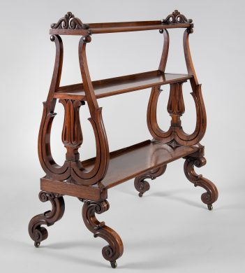 William IV Rosewood Tiered Bookstand