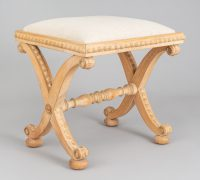 English Antique William IV Sycamore Stool