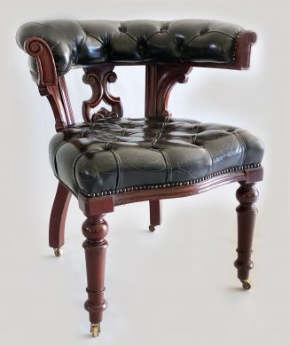 William IV Mahogany and Leather Desk Armchair
